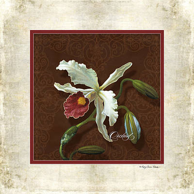 Old Masters Reimagined - Cattleya Orchid Poster by Audrey Jeanne Roberts