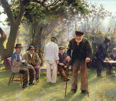 Old Men In Rockingham Park Poster by Walter Bonner Gash
