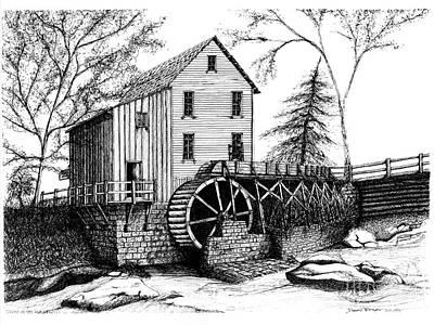 Old Mill Poster by Dawn Boyer
