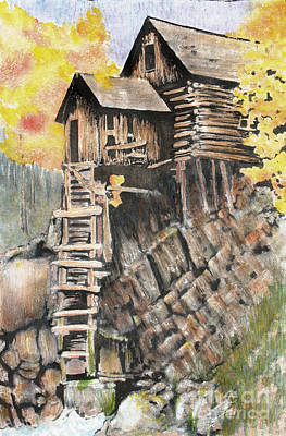 Old Mill In The Rockies Poster by Ann Sokolovich