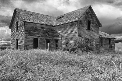 Old Montana Farmhouse Poster by Sandra Bronstein