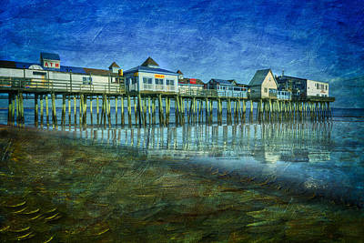 Old Orchard Beach Pier  Oob Poster by Susan Candelario