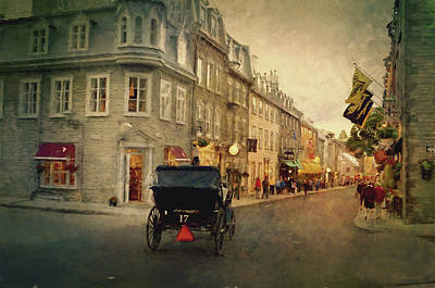 Old Quebec Poster by Maria Angelica Maira