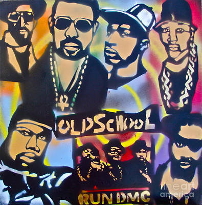 Old School Hip Hop 3 Poster by Tony B Conscious