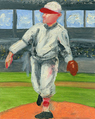 Old School Pitcher Poster by Jorge Delara