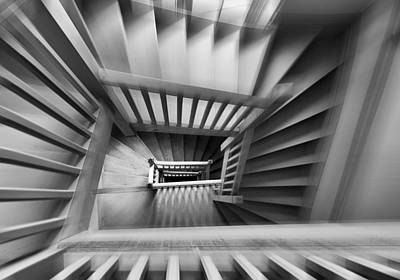Old Staircase Poster by Henk Van Maastricht