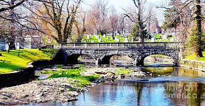 Old Stone Bridge Poster by Kathleen Struckle