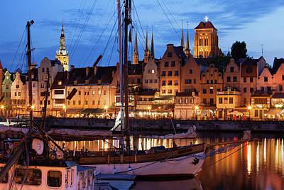 Old Town Of Gdansk At Twilight Poster by Artur Bogacki
