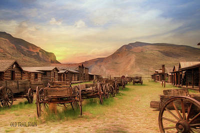 Old Trail Town Poster by Lori Deiter