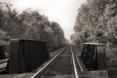 Old Train Tracks On Bridge Poster by Dan Sproul