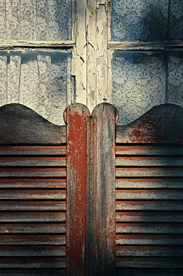Old Window Shutters 2 Poster by Carlos Caetano