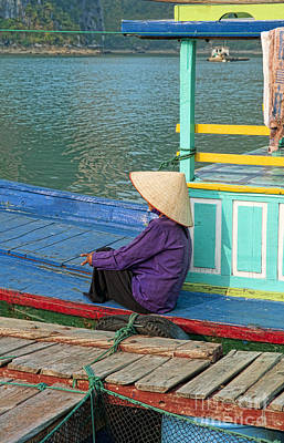 Old Woman On A Colorful River Boat Poster by Bill Bachmann - Printscapes