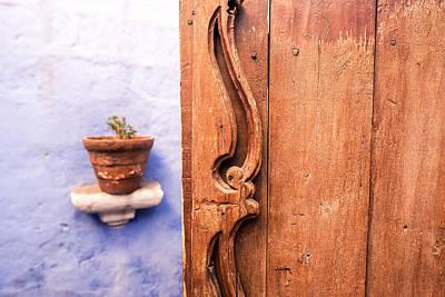 Old Wooden Door In Arequipa Poster by Jess Kraft