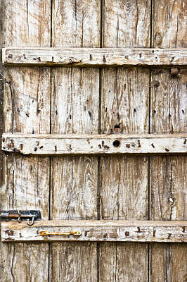 Old Wooden Gate Poster by Tom Gowanlock