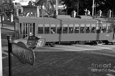 Old Ybor City Trolley Poster by David Lee Thompson