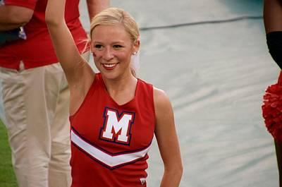 Ole Miss Cheerleader Smiling Poster by Luke Pickard