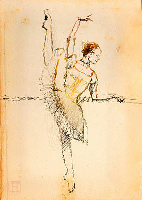 On The Barre Poster by H James Hoff