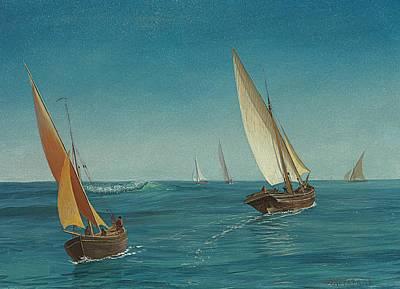 On The Mediterranean  Poster by Albert Bierstadt