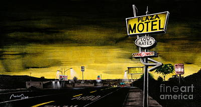On The Mother Road Poster by Alain Baudouin