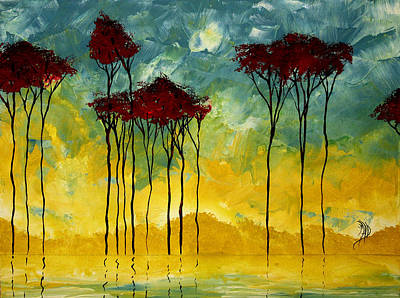 On The Pond By Madart Poster by Megan Duncanson