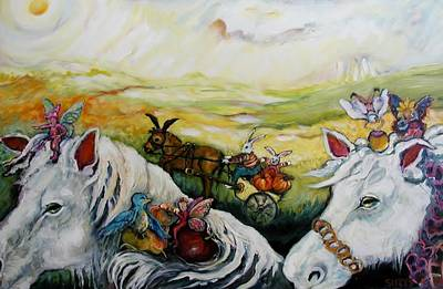 On The Road Again Poster by Susan Brown    Slizys art signature name