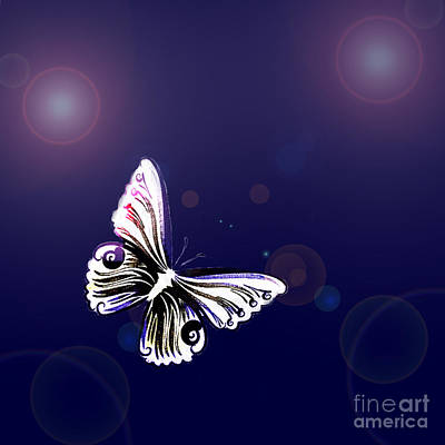 One Butterfly Poster by Tanja Riedel