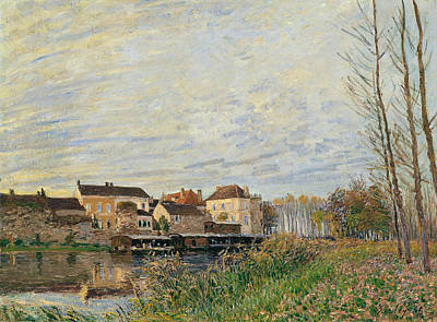 One Evening At Moret End Of October Poster by Alfred Sisley