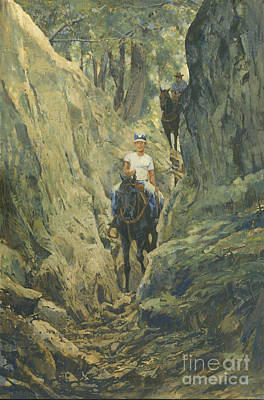 One Horse Gap Poster by Don  Langeneckert