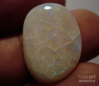 Opal Cabochon Spider Crack Poster by Neon Flash