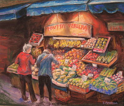 Open Air Market  Bologna Poster by Sam Pearson
