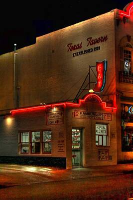 Open All Nite-texas Tavern Poster by Dan Stone