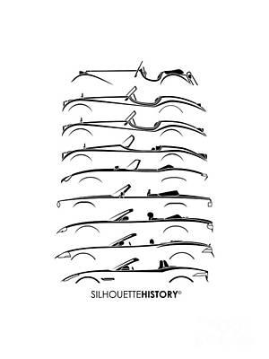 Open Big Cat Silhouettehistory Poster by Gabor Vida