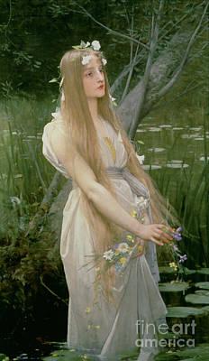 Ophelia Poster by Jules Joseph Lefebvre