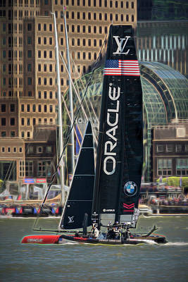 Oracle Team Usa America's Cup Ny Poster by Susan Candelario