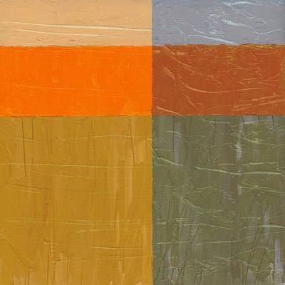 Orange And Grey Poster by Michelle Calkins
