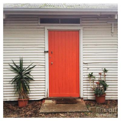 Orange Door Poster by Linda Lees