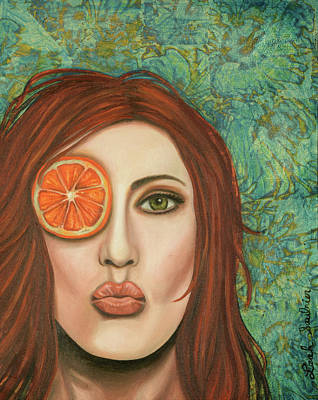 Orange Kiss Poster by Leah Saulnier The Painting Maniac