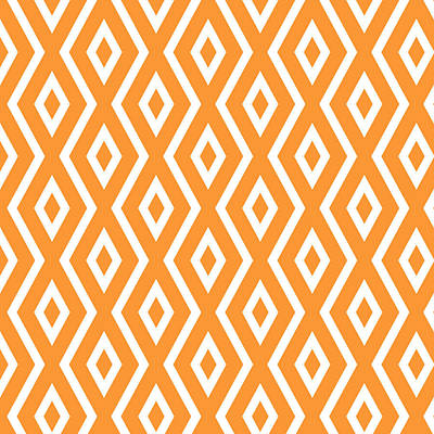 Orange Pattern Poster by Christina Rollo