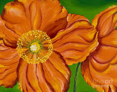 Orange Poppies Poster by Sweta Prasad