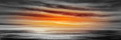 Orange Sunset - Panoramic Poster by Gina De Gorna