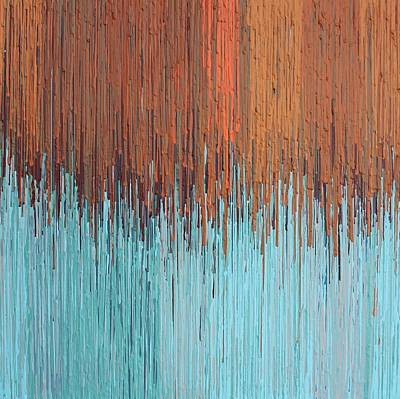 Orange Turquoise  Poster by Kate Tesch