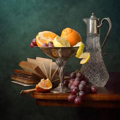 Oranges And Grapes Poster by Nikolay Panov