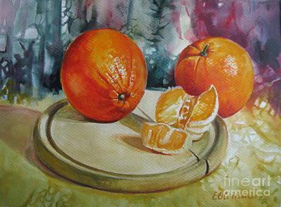 Oranges Poster by Elena Oleniuc