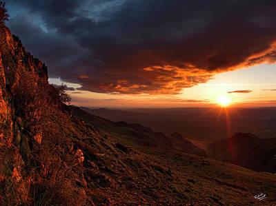 Oregon Mountains Sunrise Poster by Leland D Howard
