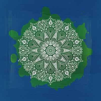 Organic Lace Circle Poster by Daniel Hagerman