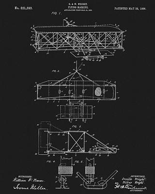 Original 1906 Wright Brothers Full Patent Poster by Dan Sproul