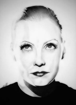 Original Greta Garbo Poster by Fred Larucci