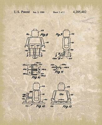 Original Lego Man Patent Poster by Dan Sproul