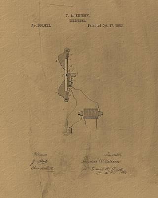Original Thomas Edison Patent Poster by Dan Sproul