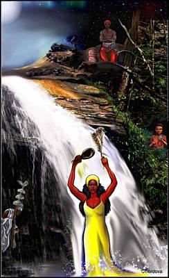 Orishas- Oshun, Obatala, Chango, Elegua Poster by Carmen Cordova